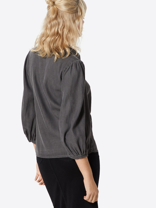 VILA Bluse 'VIBISTA' in grey denim: Rückansicht