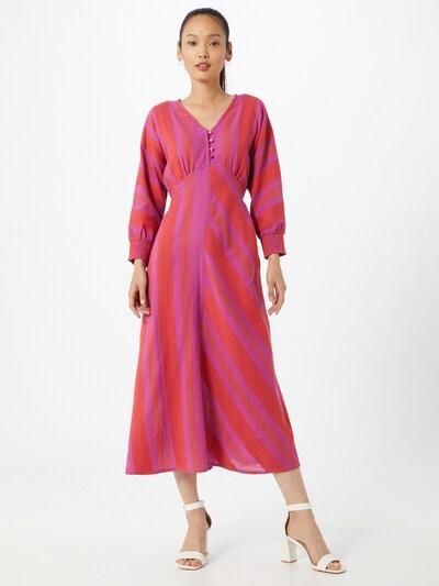 Cecilie Copenhagen Sukienka 'Alba' w kolorze fioletowy / fuksjam: Widok z przodu