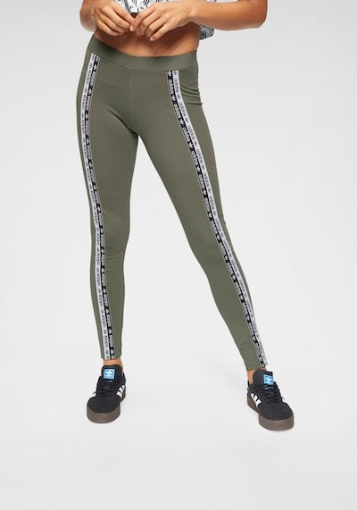 ADIDAS ORIGINALS Leggings 'Tights' in khaki / schwarz / weiß, Modelansicht