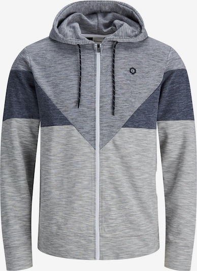 JACK & JONES Sweatjacke in grau: Frontalansicht