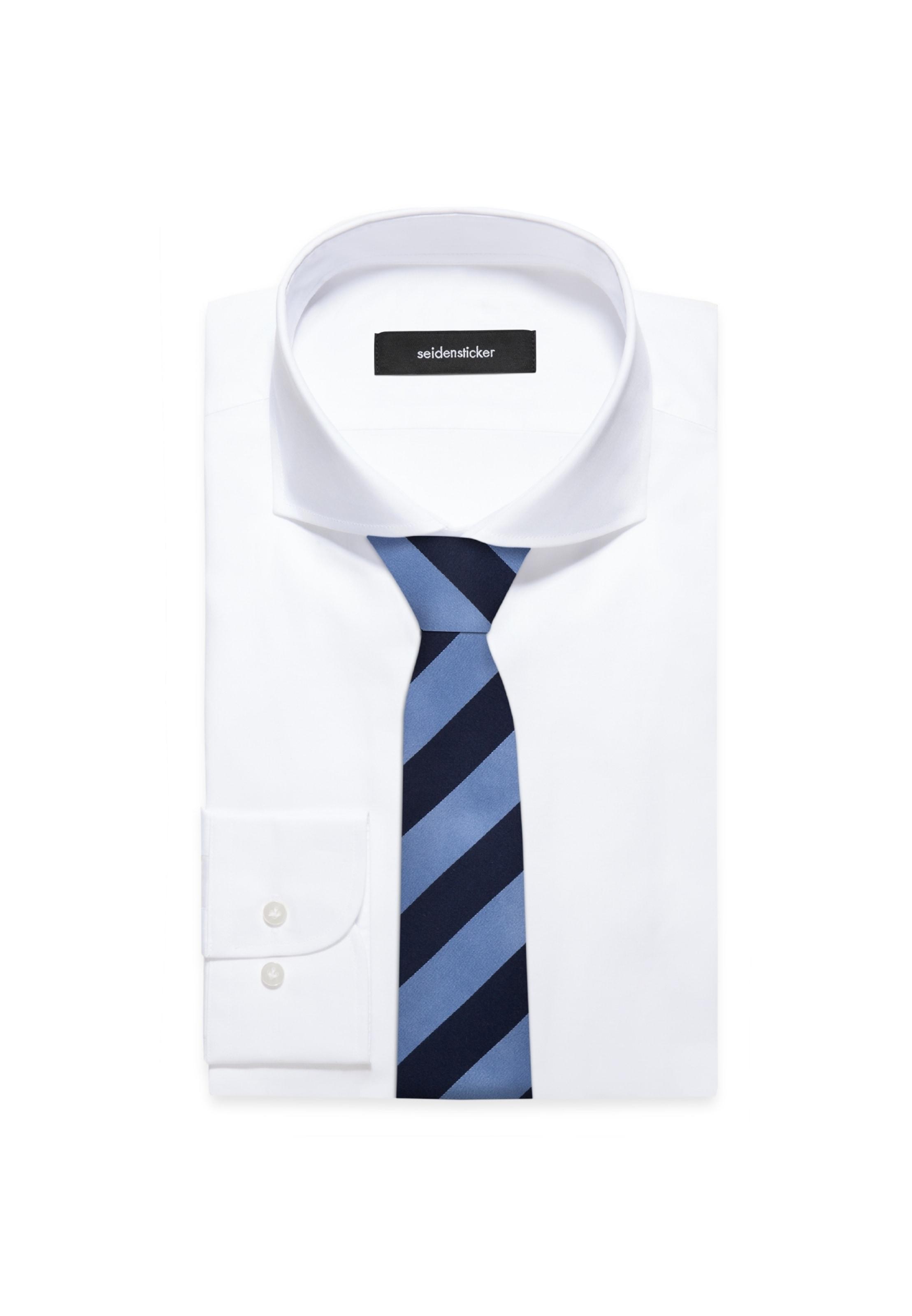 'schwarze Seidensticker Rose' Cravate Bleu En dexorCB