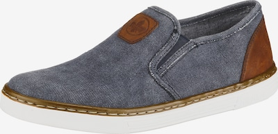 RIEKER Slipper in blue denim / braun, Produktansicht