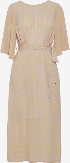 Y.A.S Robe en beige / jaune, Vue avec produit