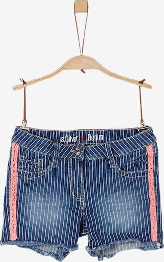 s.Oliver Junior Shorts 'Suri' in blue denim / lachs / weiß, Produktansicht