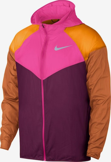 NIKE Funktionsjacke in dunkelpink / bordeaux, Produktansicht