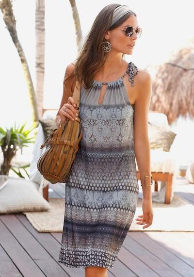 BUFFALO Strandkleid in rauchblau / mokka, Modelansicht