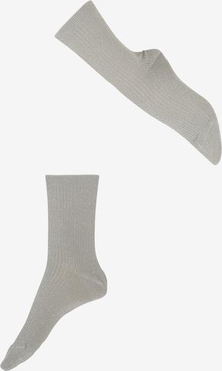 FALKE Kniestrümpfe 'Shiny' in silber, Produktansicht