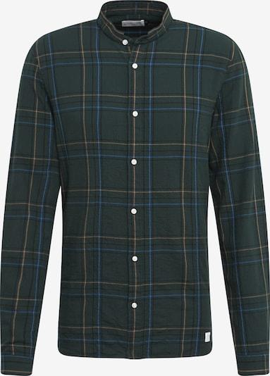 NOWADAYS Overhemd 'grandad check shirt' in de kleur Donkergroen, Productweergave