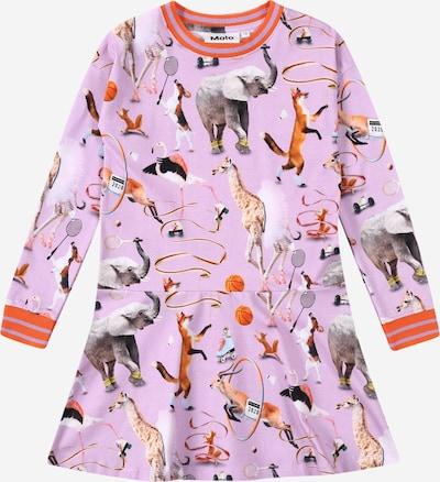 Molo Kleid 'Conny' in grau / lila / dunkelorange / weiß, Produktansicht