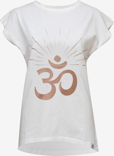 YOGISTAR.COM Shirt in rosegold / weiß, Produktansicht