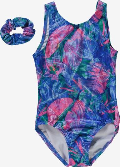 Bloch Gymnastikanzug in blau, Produktansicht
