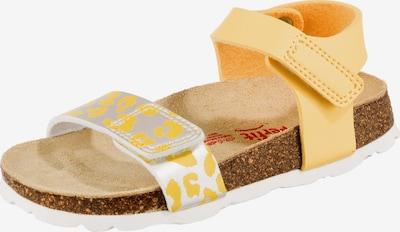 SUPERFIT Sandale in hellgelb / silber, Produktansicht
