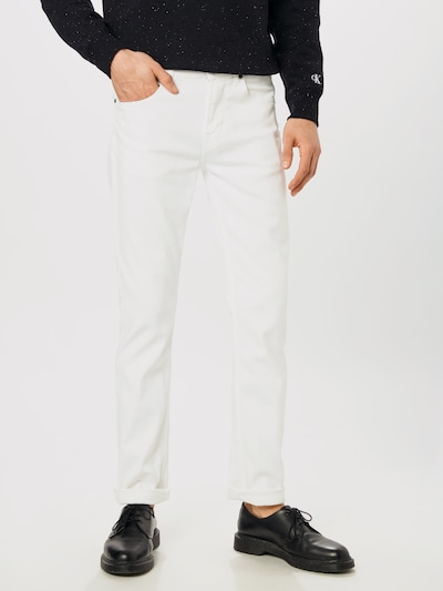 7 for all mankind Jeans 'SLIMMY LUXE PERFORMANCE' in white denim, Modelansicht