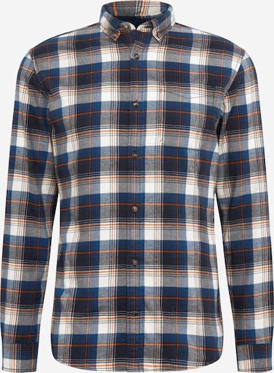 JACK & JONES Overhemd in de kleur Navy / Nachtblauw / Lichtgrijs / Donkeroranje / Wit, Productweergave