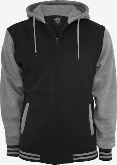 Urban Classics Sudadera con cremallera en gris moteado / negro, Vista del producto