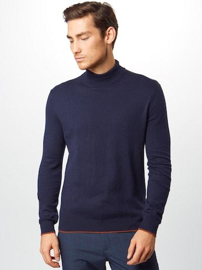 BURTON MENSWEAR LONDON Sweter 'knit polo' w kolorze granatowym: Widok z przodu