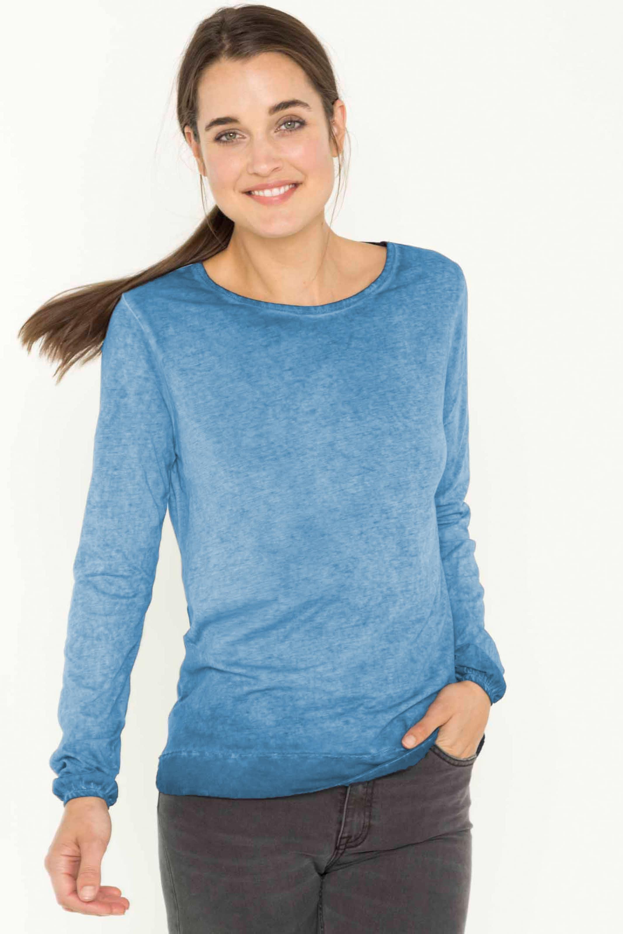 'carina' Life For Longsleeve In Blau Shirts oeWEQCrdxB