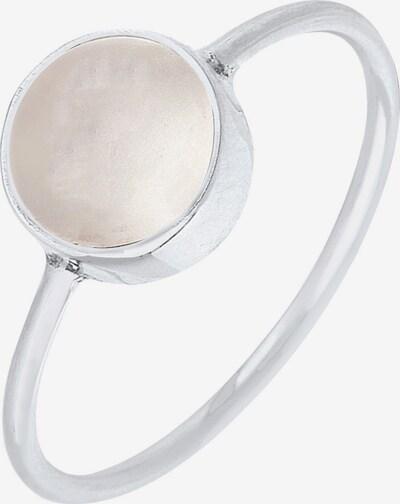 ELLI Ring in silber / weiß, Produktansicht