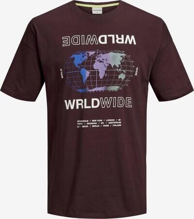 JACK & JONES T-Shirt en brun foncé / mélange de couleurs: Vue de face