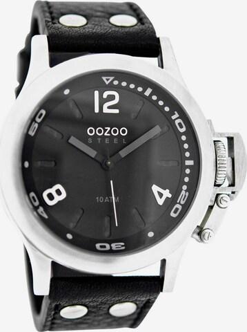 OOZOO Quarzuhr 'OS328' in Schwarz