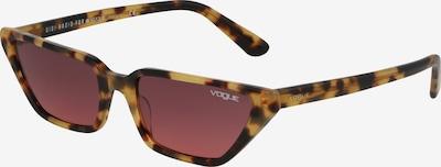 VOGUE Eyewear Lunettes de soleil en marron / rose, Vue avec produit