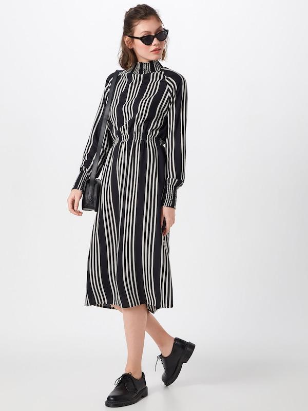'nmclara Noisy May Robe En NoirBlanc L s Dress' Midi xdrBeCo