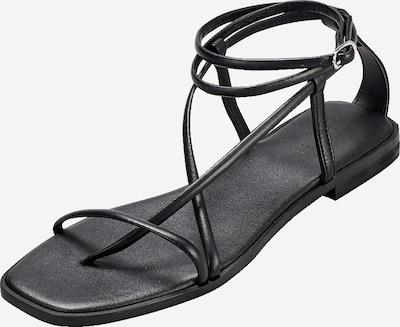 Flip-flops 'Shela' EDITED pe negru, Vizualizare produs