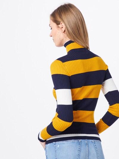 ONLY Pull-over en bleu nuit / jaune: Vue de dos