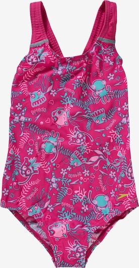 SPEEDO Badeanzug 'SEASQUAD' in hellblau / pink / rosa, Produktansicht