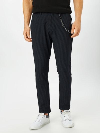 !Solid Kalhoty - tmavě modrá / bílá, Model/ka