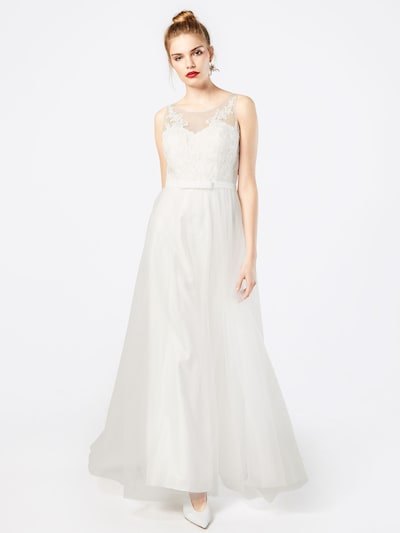 mascara Abendkleid aus Tüll und Spitze in weiß, Modelansicht