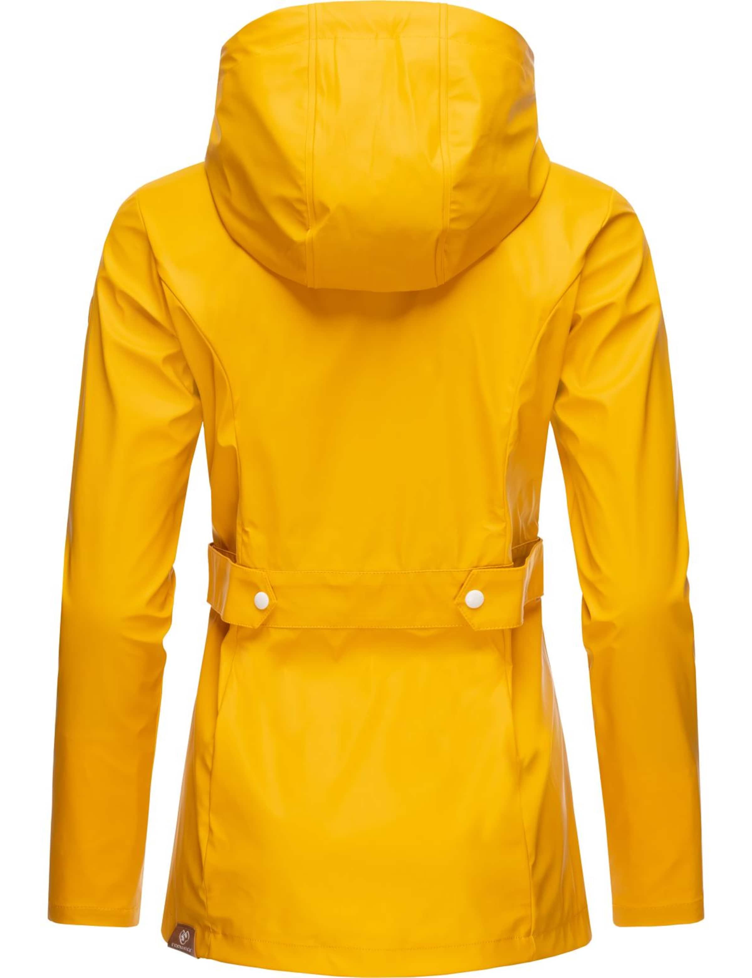 Ragwear Regenjacke 'Marge' in gelb