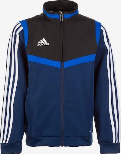 ADIDAS PERFORMANCE Jacke 'Tiro 19' in blau / schwarz / weiß, Produktansicht