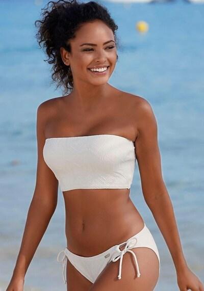 BUFFALO Buffalo Bandeau-Bikini-Top in creme / weiß, Modelansicht