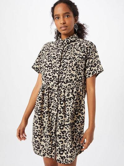 Missguided Kleid in beige / grau / schwarz, Modelansicht