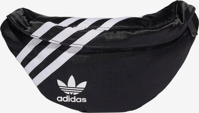 ADIDAS ORIGINALS Torbica za okrog pasu | črna / bela barva, Prikaz izdelka