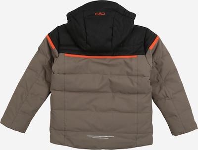 CMP Sport-Jacke in khaki / orange / schwarz: Rückansicht