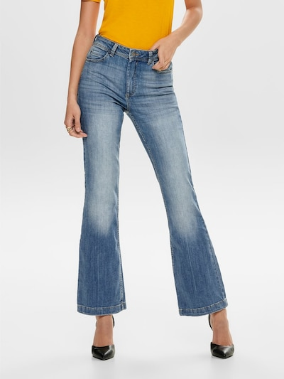 JACQUELINE de YONG Flared Jeans in blue denim, Modelansicht