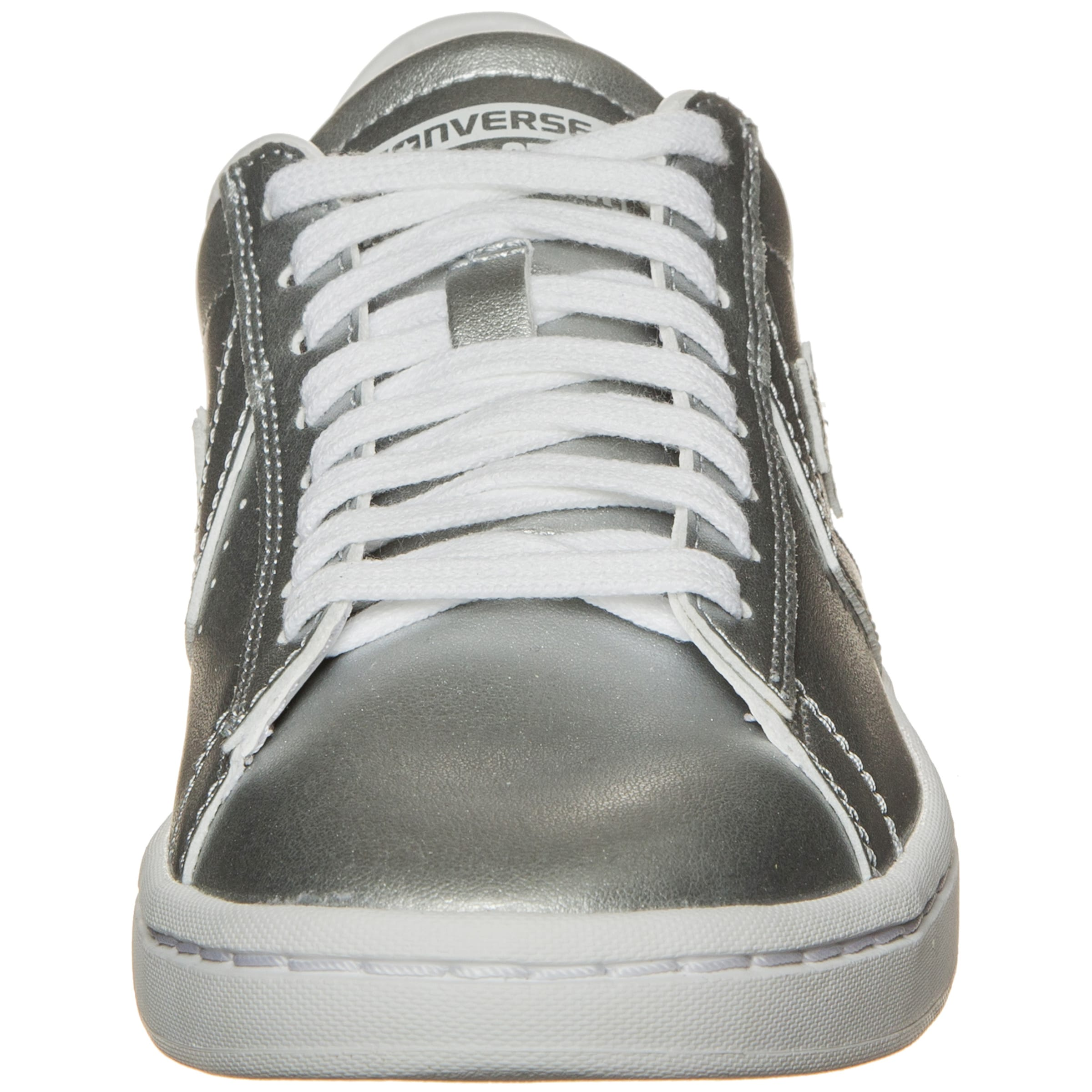 Lp Ox' Leather Metallic Sneaker Converse Silber In 'pro 4RcAqL35j