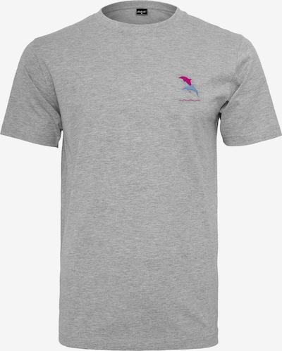 Mister Tee T-Shirt in hellblau / graumeliert / pink, Produktansicht
