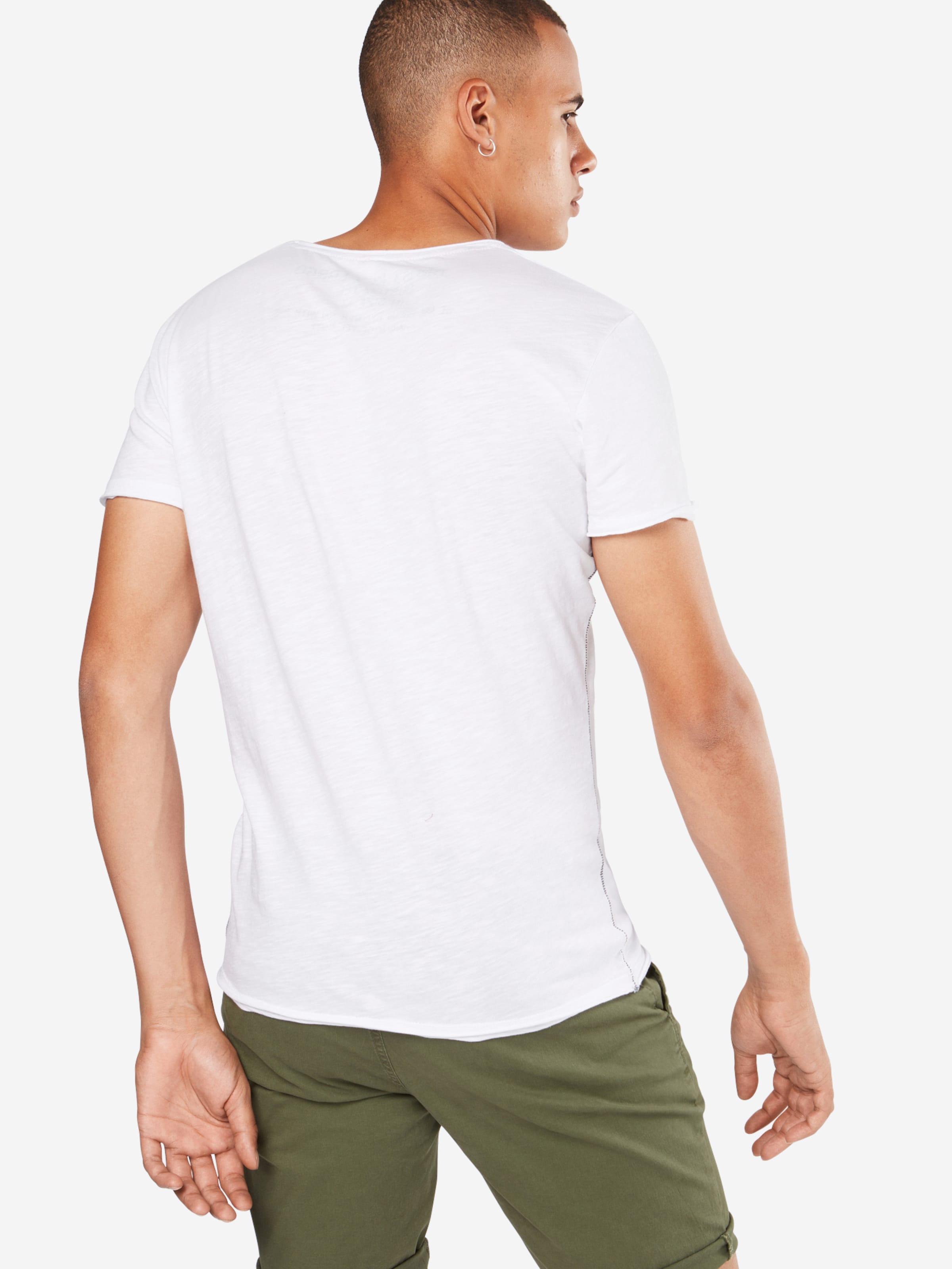 Key V Buddha T shirt 'mt Largo En neck' GrisBlanc jMpqVLzUGS