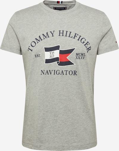 TOMMY HILFIGER Shirt 'FOLDED FLAG TEE' in grau, Produktansicht