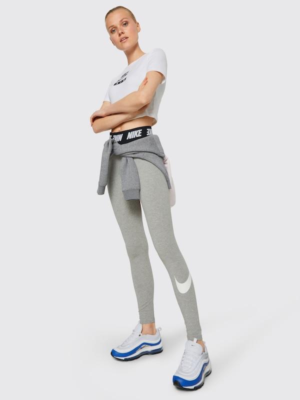 Nike Sportswear Leggings Wit In GrijsZwart ZOkPXTiu