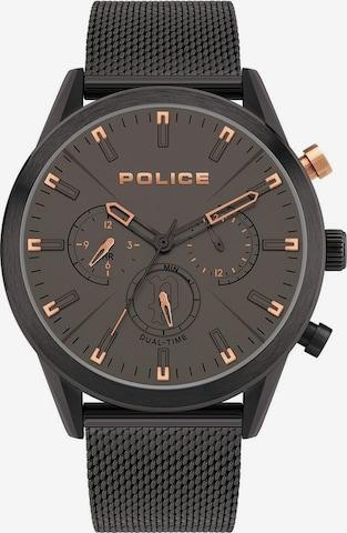 POLICE Analog Watch 'SILFRA, PL16021JSB.79MM' in Black