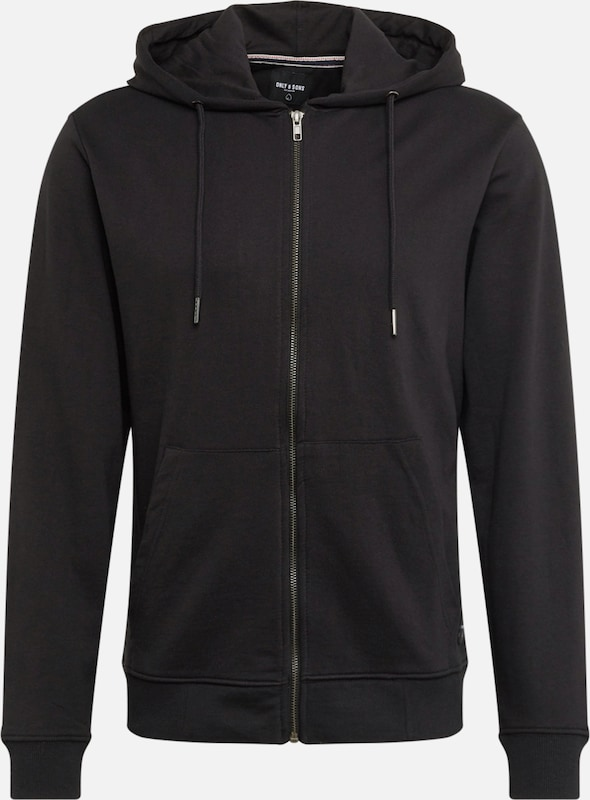 Only & Sons Sweatjacke 'WINSTON' in schwarz, Produktansicht