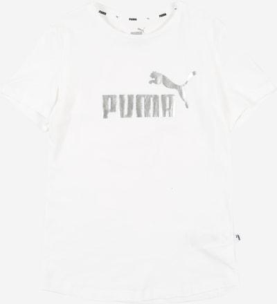 PUMA T-Shirt in silber / weiß, Produktansicht