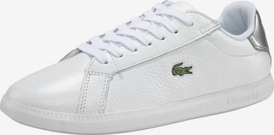 LACOSTE Baskets basses 'Graduate' en vert / argent / blanc, Vue avec produit