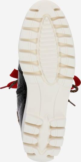 ARA Stiefelette 'JACKSON KEIL' in braun / braunmeliert / rot / schwarz / weiß: Ansicht von unten