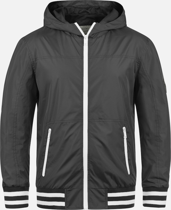 BLEND Windbreaker 'Novan' in grau: Frontalansicht