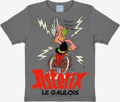 LOGOSHIRT T-Shirt Asterix - Der Gallier in grau / dunkelgrau / rot, Produktansicht